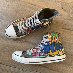 Converse Sneaker Graffiti Chucks High Tops M7 W9